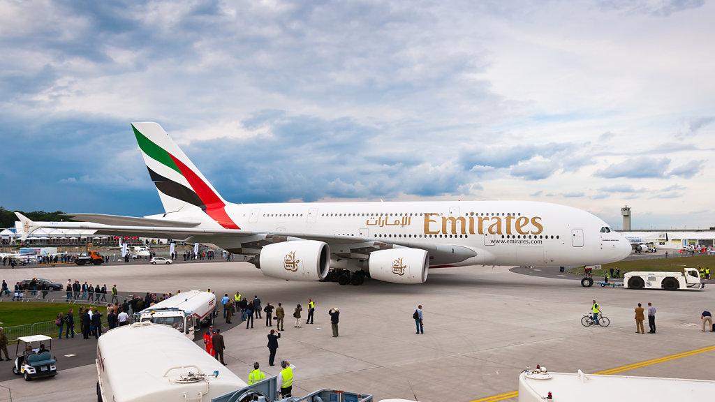 A6-EDC Emirates Airbus A380-861 ILA 2012